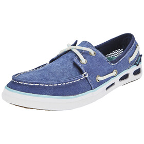 Columbia Vulc N Vent Boat Canvas Shoes Women Collegiate Navy, Candy Mint